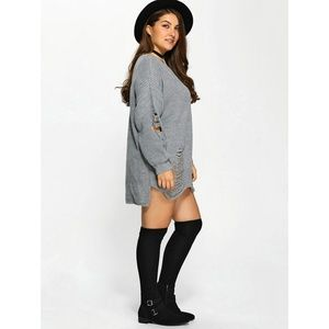 Unknown Label For Curves Collection Sweaters Plus Size Distressed